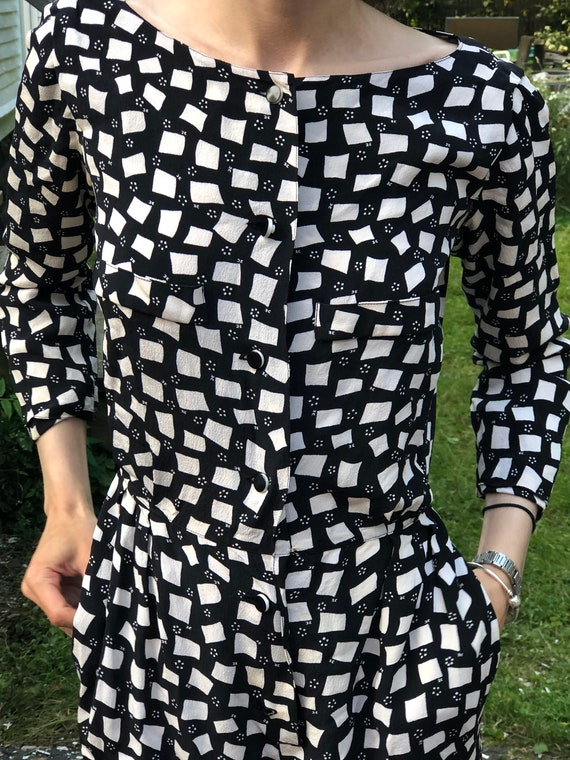 Courreges 100% Genuine Silk Vintage 1970s Jumpsuit