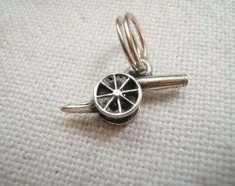 Found in San Francisco Estate 1940s Silver Cannon Charm for Charm Bracelet