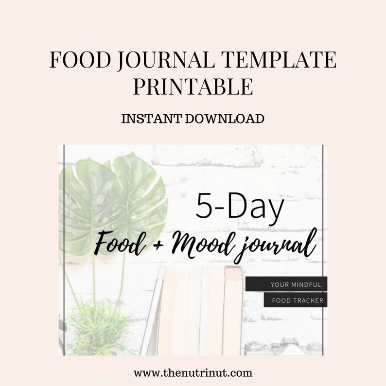 Food Journal  Mood Journal  Journal Printable  Instant image 0