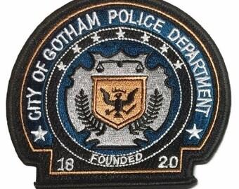 Batman City of Gotham Police Department Badge LANYARD ID Holder Keychain