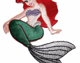 "Disney/'s Little Mermaid Ariel Character Sitting 3 1//2/"" Tall Embroidered Patch"
