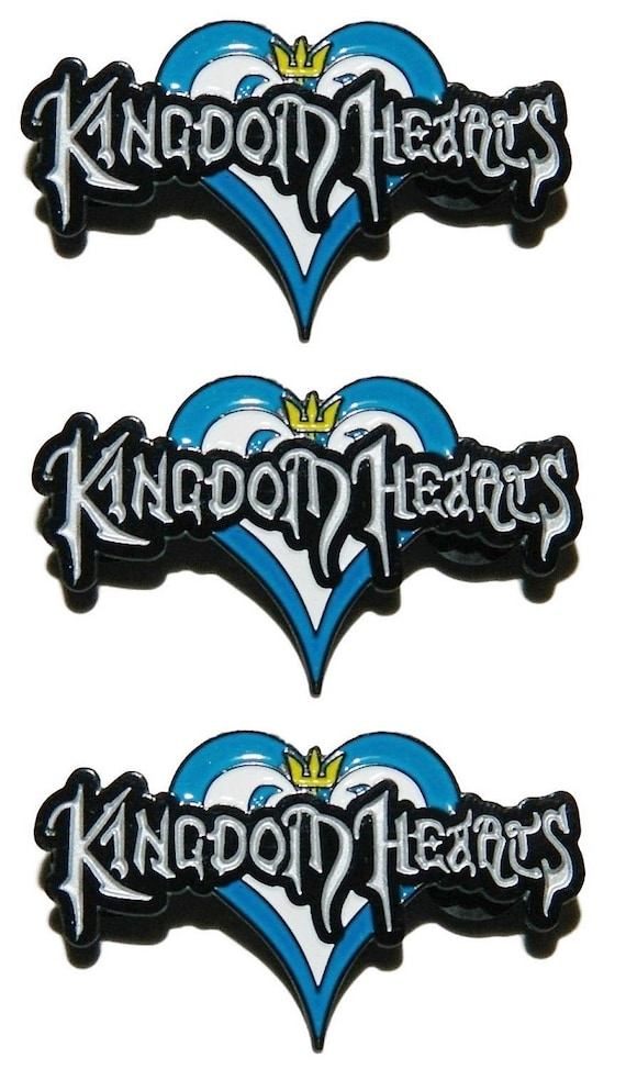 """Kingdom Hearts Sora's Keyblade Logo 3 1//2/"""" Tall Embroidered Set of 3 Patches"""