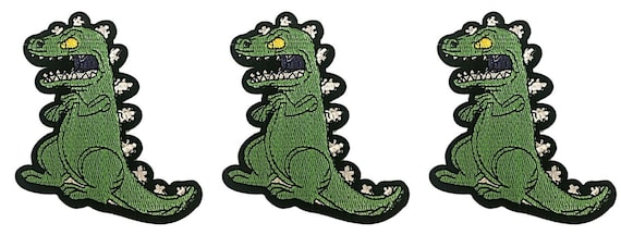 "Rugrats TV Series REPTAR 4 1//2/"" Tall Iron On Patch"