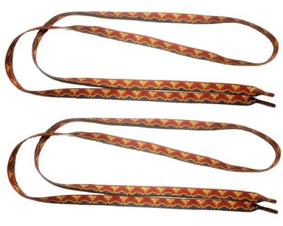 Wonder Woman Design Red Double Sided Shoe Laces