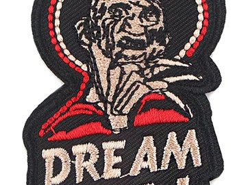 Freddy Krueger Dream Big 3 Inches Tall Embroidered Patch