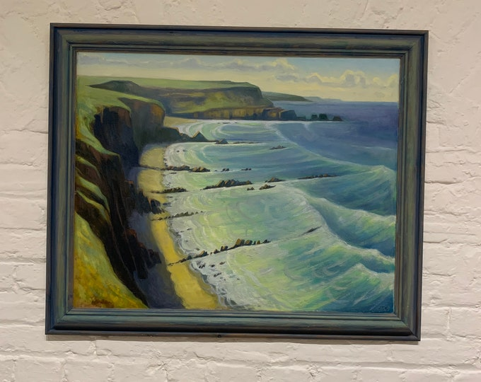 Hartland Cliffs, Devon Oil Painting