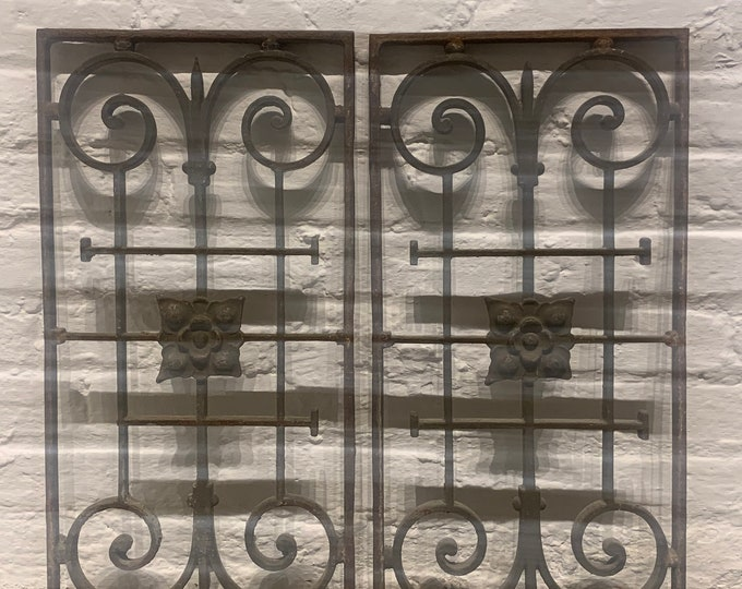 Ornate French Window Irons/Shutters (pair)