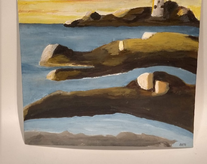 Godrevy Lighthouse Oil Painting