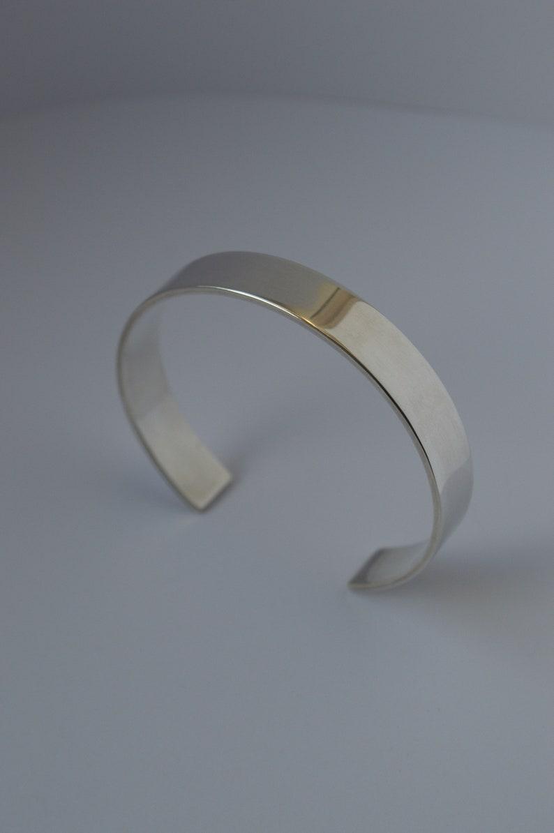Silver open cuff bangle
