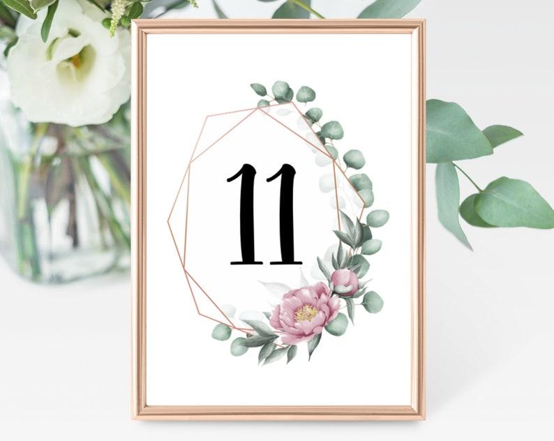 Tischnummern | Tischkarten Eukalyptus Design