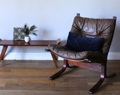 Midcentury Norwegian Westnofa Bentwood Grey Brow Leather Lounge Chair