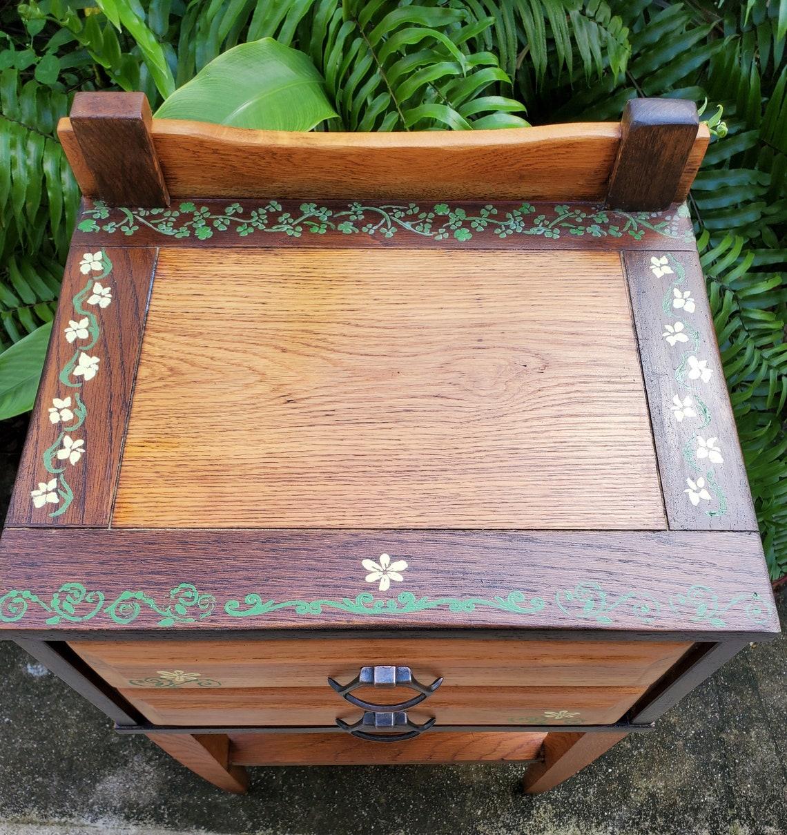 3 Toned Oak Side Table