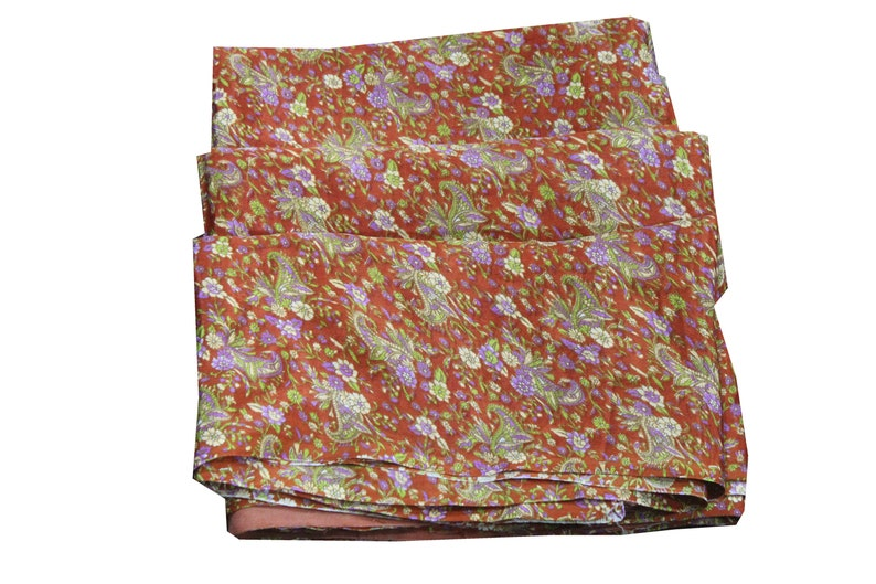 Dressmaking Vh444 Recycled Fabric Ethnic Craft Vintage Fabric Indian Silk Sari Clothing EXPRESS SHIPPING-Silk Saree