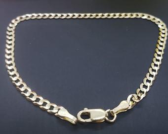 "14K SOLID Yellow Gold  2.70mm 3.20 mm 4.00mm Cuban Chain Length   7"" 7.5""  Bracelet , Necklace Women's Men's"