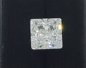 Princess Cut Moissanite White E-F • 0.25  to 5 Carat • 100% Genuine •Loose Moissanite diamond • Brilliant Cut Excellent Grade VVS Color DEF
