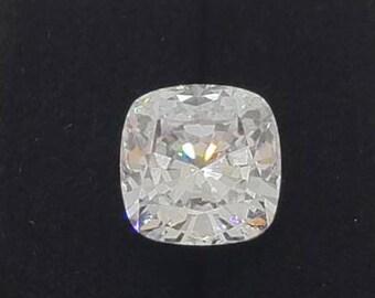 Cushion Cut Moissanite White E-F • 0.25  to 5 Carat • 100% Genuine •Loose Moissanite diamond • Brilliant Cut Excellent Grade VVS Color DEF