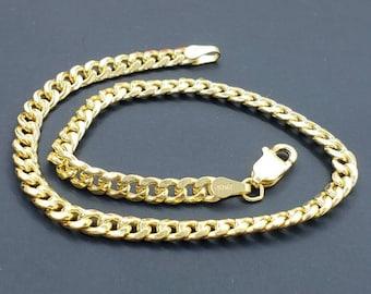 10K Yellow Gold 3.70 mm Miami Cuban Link Chain Bracelet Mens Womens,