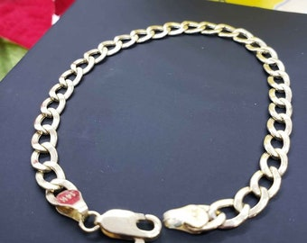 "14K SOLID Yellow Gold 4.80mm 6.00 mm 7.00mm Cuban Chain Length    7.5"" 8"" 8.5"" Bracelet , Women's Men's"