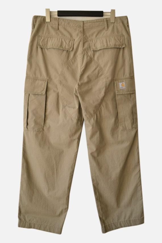 Men's Carhartt Cargo Pants Beige Size 38x32