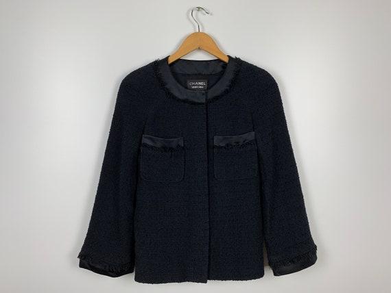 Women's Chanel Blazer Black Formal Jackets Size 34