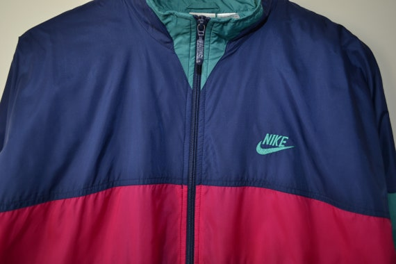 Vintage 90s Nike Tracksuit Set Jacket Pants Windb… - image 2