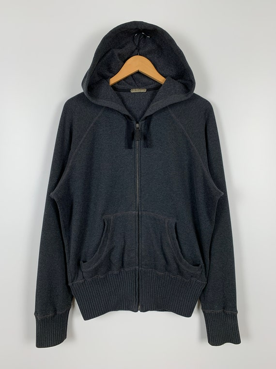 Bottega Veneta Zip Hoodie Gray Size 52