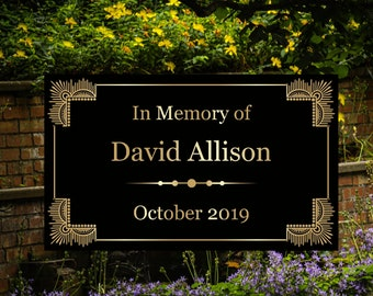 Laser Engraved Metal Plate - Custom Memorial Plaque - Personalized to Order