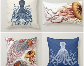 Octopus Pillow Etsy