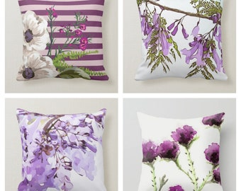 Personalised Girls Cushion Handmade Hearts flowers birds Pinks Lilac Grey Blue