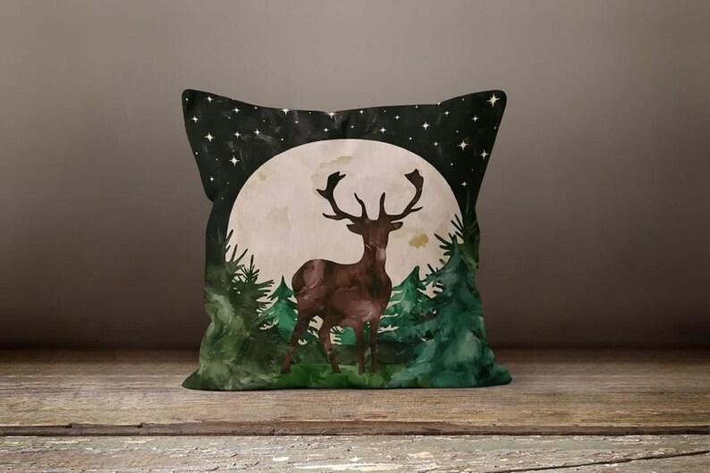 Christmas Pillow Covers|Xmas Deer Decor|Winter Decorative Pillow Case|Xmas Floral Throw Pillow|Outdoor Pillow Case|Christmas Home Decor