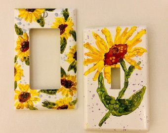 Switch plate covers/ decorative switch cover / Flowers
