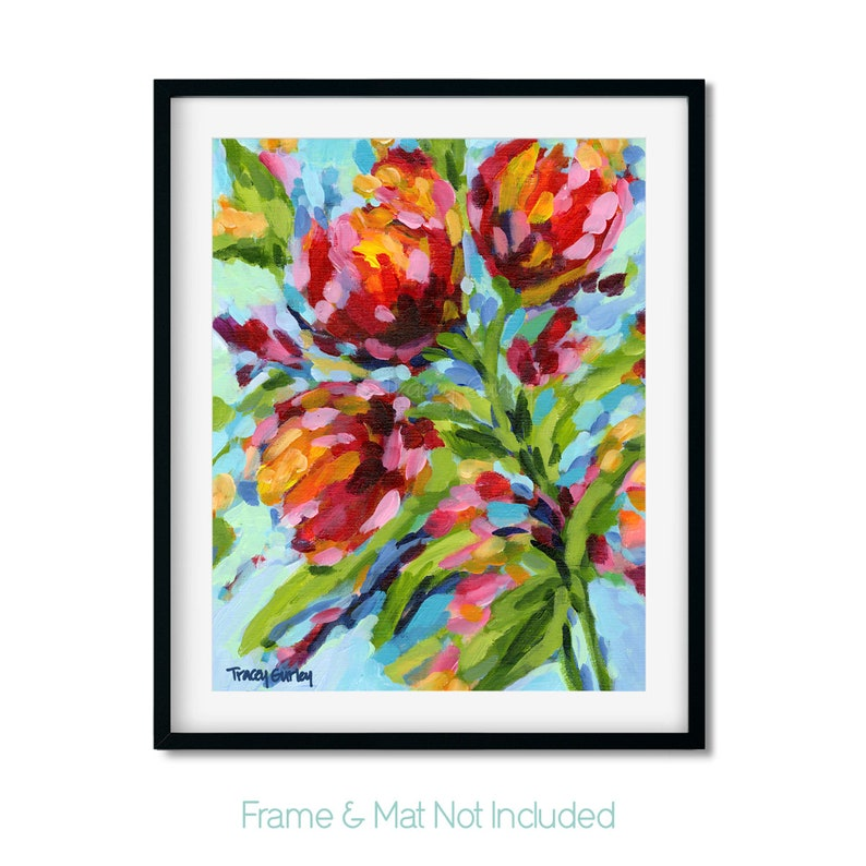 floral print Fresh Flowers in the Morning fine art print abstract art home decor floral giclee 11x14 giclee art print giclee print