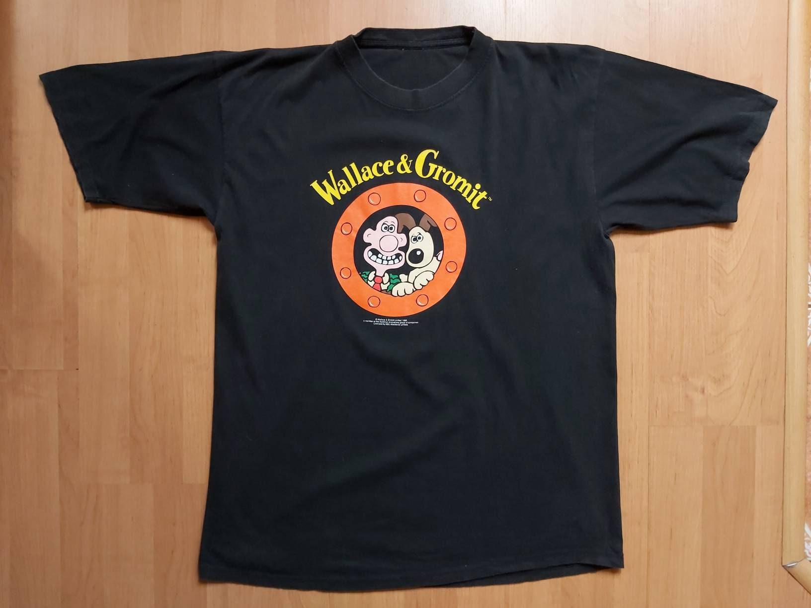 80s Tops, Shirts, T-shirts, Blouse   90s T-shirts Rare Vintage 1989 Wallace  Gromit Bbc T-Shirt Tv Series Movie Promo Shirt Black Wallce Grommit Fits Size Lxl $69.51 AT vintagedancer.com