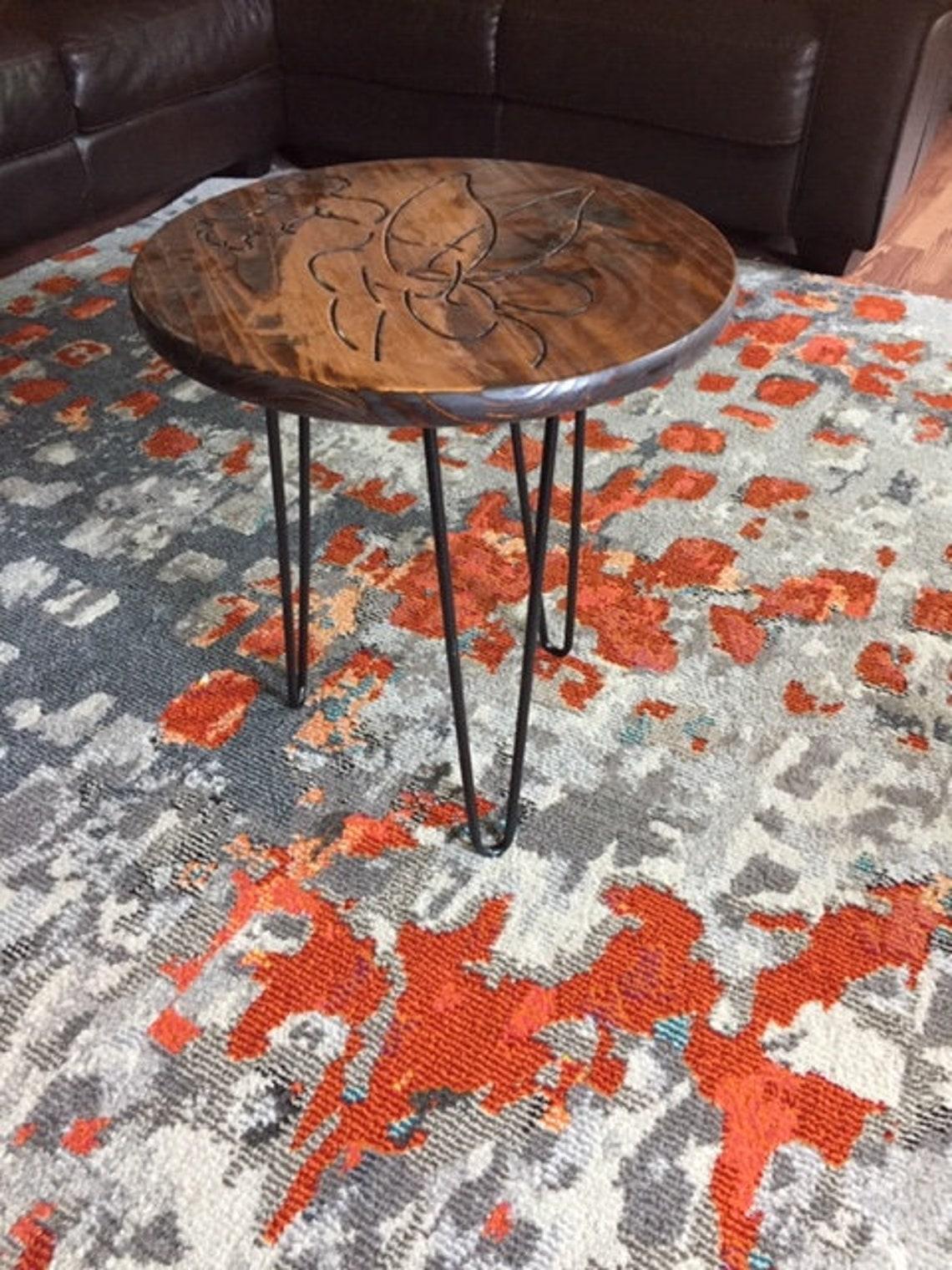 Disney Decor / Tinkerbell inspired / Kids Room  / End Table / Princess / Fairy Table / Nursery Decor / Real wood side Table/Peter Pan