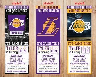 image regarding Lakers Printable Schedule identified as Lakers printable Etsy