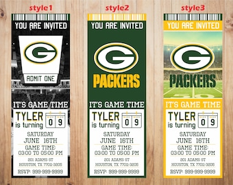 graphic relating to Printable Packer Schedule referred to as Packers invitation Etsy
