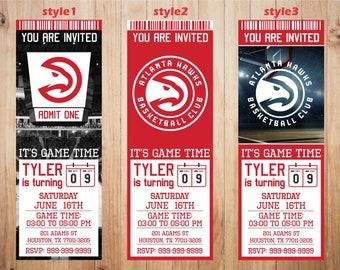 photo regarding Atlanta Hawks Printable Schedule named Atlanta hawks social gathering Etsy