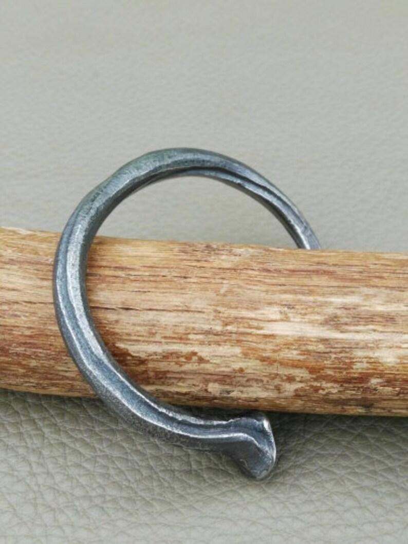 Hand forged bracelet Nail cuff bracelet Men/'s cuff bracelet Iron bracelet