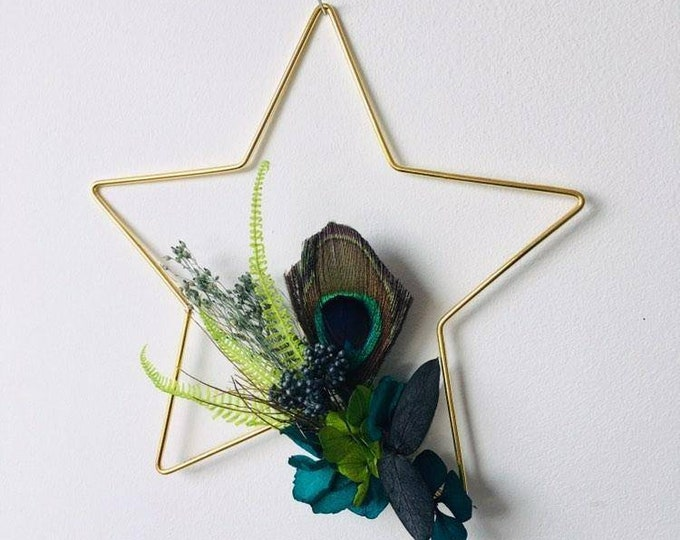 Celestial star in dried flowers