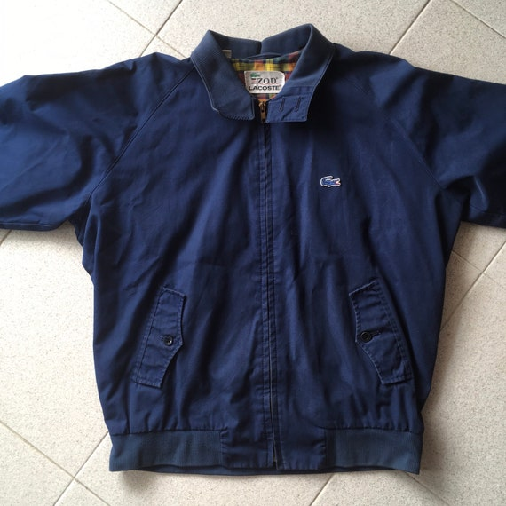 Izod Lacoste harrington jacket . vintage 1970s . s