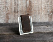 Pack of 50, Personalized Leather Money Clip. Custom Money Clip. Engraved Money Clip. Money Clip for Men
