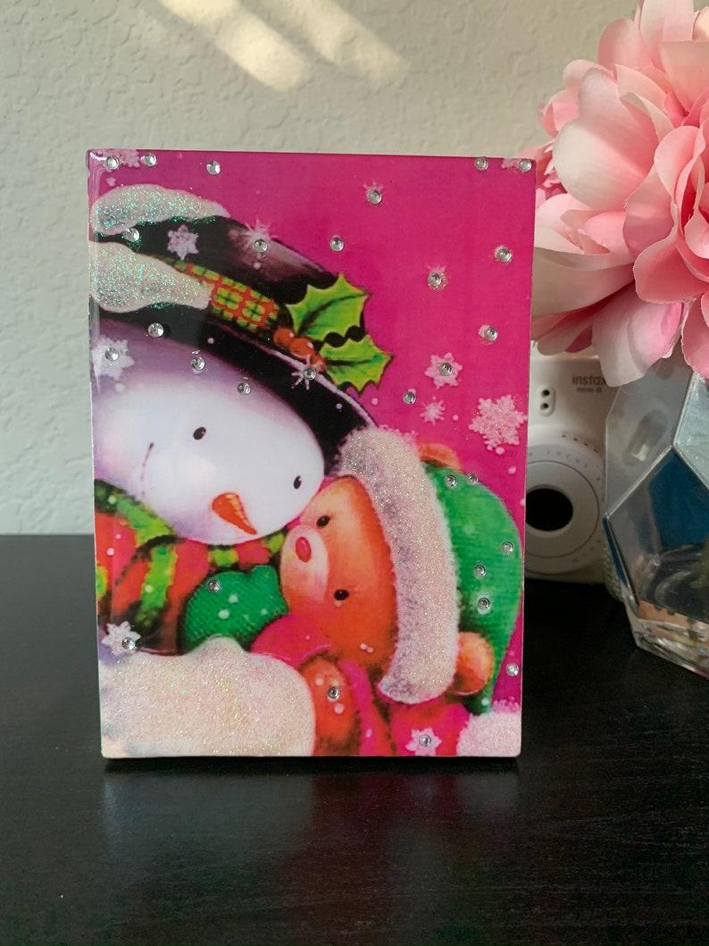 Handmande  Jewerly Box Snowman and Teddy Bear