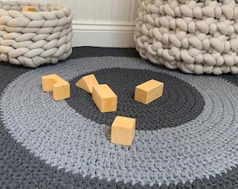 Alfombra fácil con piedras Guía de MANUALIDADES
