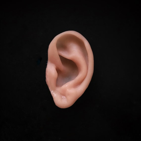 Severed Silicone Ear Prop Halloween Realistic Prosthetic FX Movie Prop