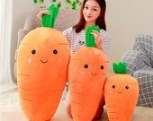 Carrot Plush, Carrot Stuffed Animal, Carrot Plushie, Kawaii Plushies, Nursery Decor, Baby Gift, Baby Shower, Kawaii Room Decor, Cute Gifts