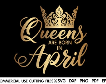SVG A Queen Was Born on Includes Months, Dates and Abbreviations