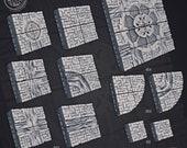 Sewers Floor Tiles set Dungeons and Dragons Wargames Warhammer Age of Sigmar AoS Fantasy Pathfinder RPG War Gaming Cast n Play