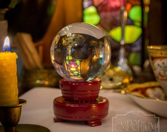 Small Crystal Ball | Divination | Scrying | Tarot | Fortune Telling | Samhain | Crystal Gazing