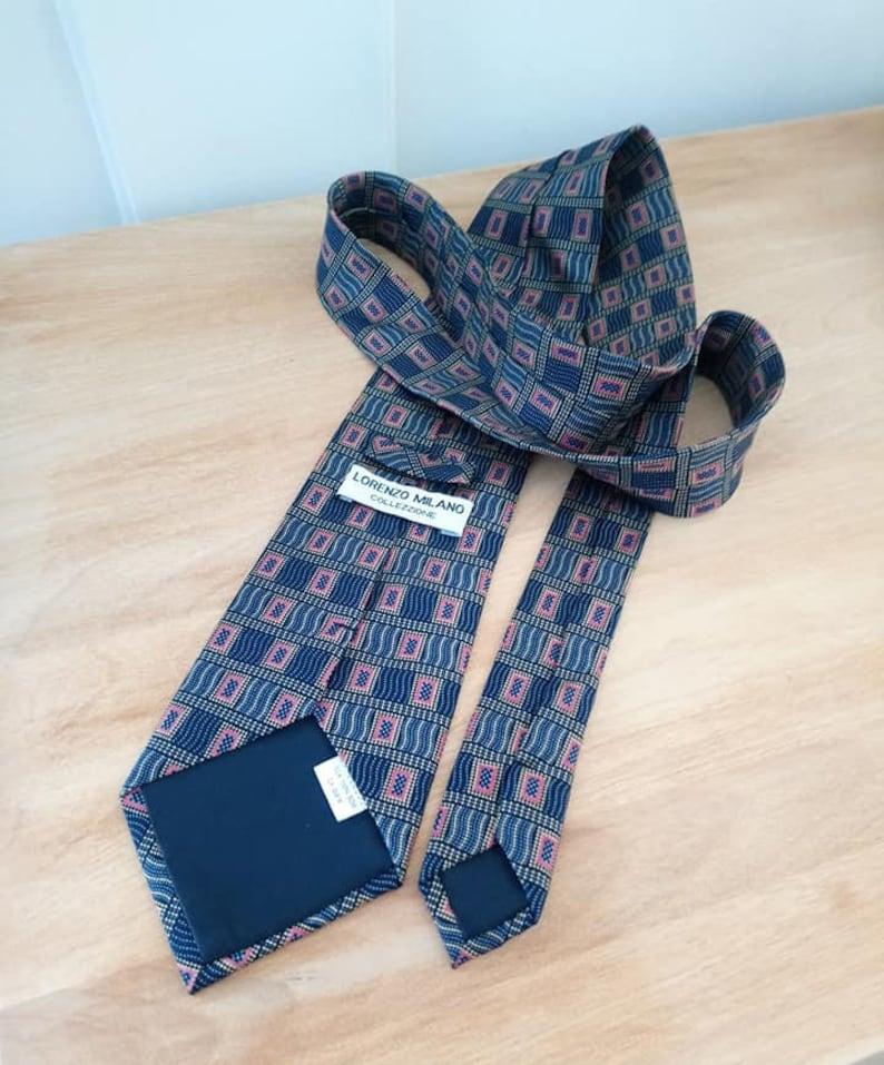 Vintage Necktie Lorenzo Milano Collezione 100/% Silk Made in China