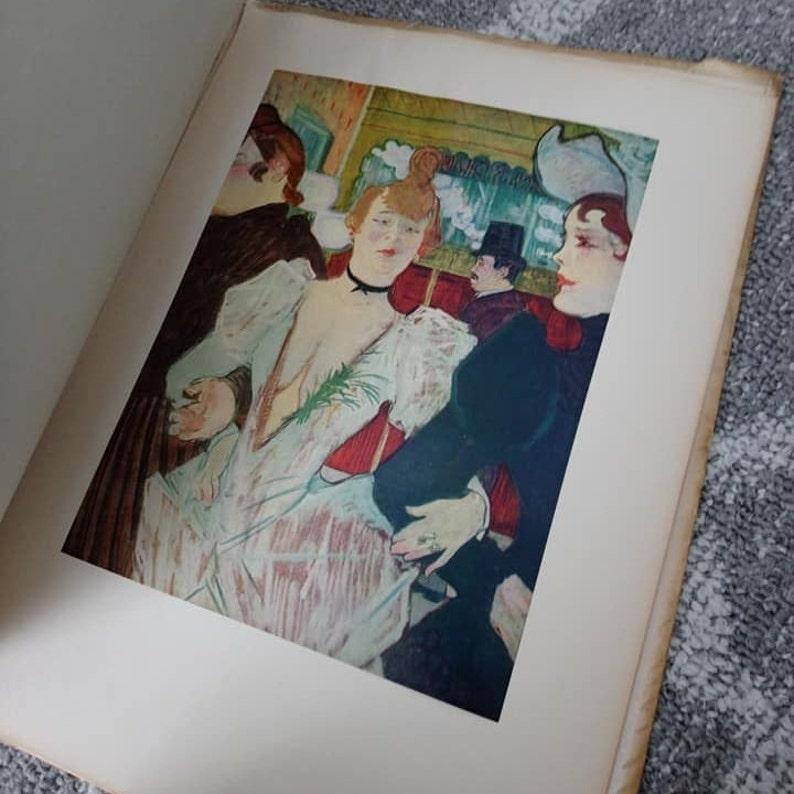 Vintage Toulouse-Lautrec Fifteen Colorful Frameable Litho Prints Abrams Art Book Lithographs 15
